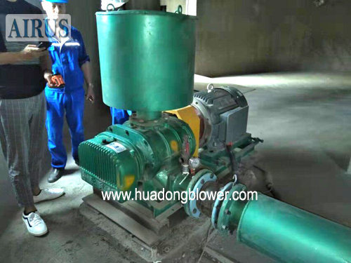 HDSR 150A three lobe roots air blower for cement industry