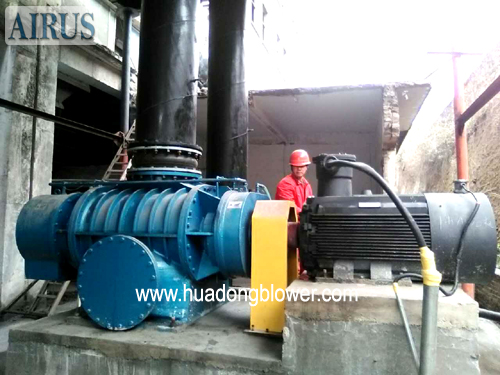 HDR series two lobe roots blower for lime kiln,