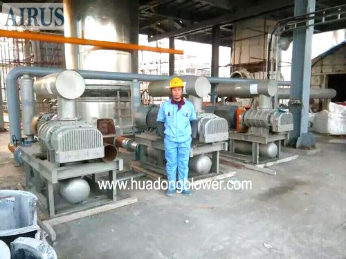 HDSR MJ compact roots blower package for cement industry