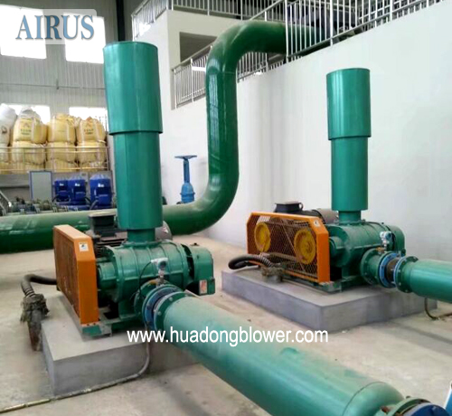 HDSR200A three lobe roots air blowers for wwtp aeration