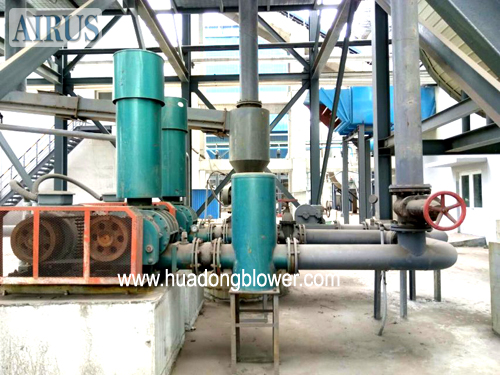 HDSR series three lobe roots blowers in chemical plant