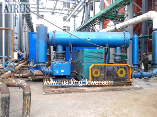 HTR Series High Pressure Double Stage Roots Blower In Ammonia Factory