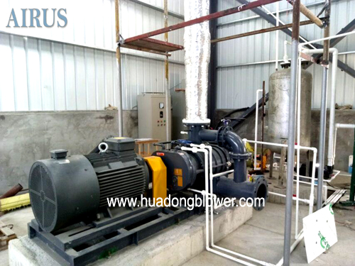 High temperature roots type compressor for water steam